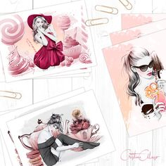 'Something Sweet' Fine Art Mini Prints Set by Cristina Alonso