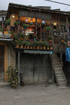This is a photo of a store I came across while I was visiting a town called Masouleh. This city is famous for its mountainside houses that are built on top of each other