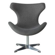 Egg Chair Stof.Kato Loungestol Gra Stof Egg Chair Furniture Chair