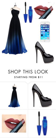 """""""Prom"""" by lellietes ❤ liked on Polyvore featuring Fiebiger, Maybelline, women's clothing, women, female, woman, misses and juniors"""