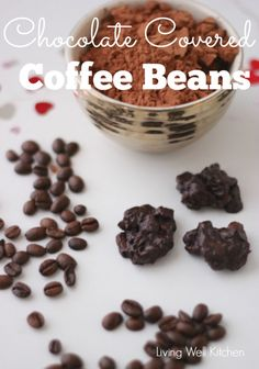 Chocolate Covered Coffee Beans from Living Well Kitchen Chocolate covered coffee beans are a rich, sweet, and savory pick-me-up dessert that are easy and quick to make Chocolate Covered Espresso Beans, Chocolate Covered Coffee Beans, Choco Chocolate, Chocolate Espresso, Homemade Chocolate, Chocolate Recipes, Divine Chocolate, Coffee Brownies, Paleo