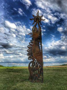 Astral steel sculpture
