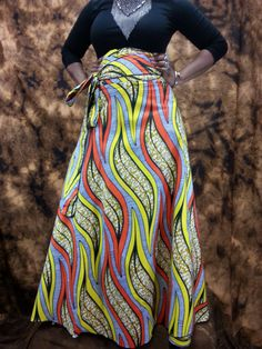 Items similar to Cotton HIGH Waist Wrap Skirts Available from Small to Plus Size Skirts all Handmade to Size on Etsy African Attire, African Wear, African Fashion, African Style, Plus Size Skirts, Plus Size Outfits, Wrap Skirts, Maxi Skirts, Maxis