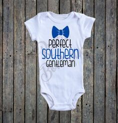 Perfect Southern Gentleman Onesie®/ western Onesie®/ Baby Boy Onesie®/ little boy Onesie®/ Baby boy bodysuit/ Texas baby/ Country baby by RustikBoutique on Etsy