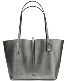 COACH COACH Market Tote in Pebble Leather. #coach #bags #shoulder bags #hand bags #leather #tote #lining #