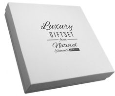 Black foil print looks great on a natural brown gift box