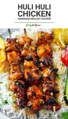 Asian Recipes, Healthy Recipes, Ethnic Recipes, Recipes With Ginger, Hawaiian Food Recipes, Hawaiin Food, Healthy Grilled Chicken Recipes, Hawaiian Dishes, Hawaiian Bbq Sauce Recipe