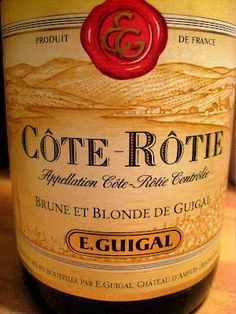 One of the first great wines I ever purchased, the 1998 Guigal  Cote Rotie Burne et Blonde. Still have a bottle left..