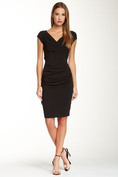 BCBGMAXAZRIA Vita Ruched Sheath Dress by BCBGMAXAZRIA on @HauteLook