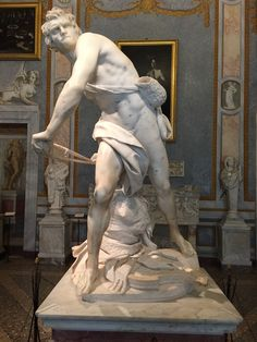 Bernini's David, Borghese Gallery, Rome, Italy