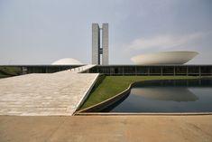 National Congress of Brazil, Brasilia Senate & Chamber of deputies  Architect: Oscar Niemeyer 1958 Landscape architect: Roberto Burle Marx