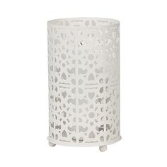 Moda Metal Candle Holder White. Also comes in black