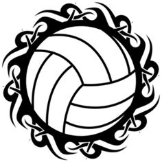 free printable volleyball clip art shape collage shapes rh pinterest com clipart volley-ball gratuit volleyball net clipart free