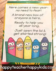 NEW YEAR'S FREEBIE! Free New Year's poem with matching gift tag... perfect for your first day back after winter break! #newyear #newyearfavor