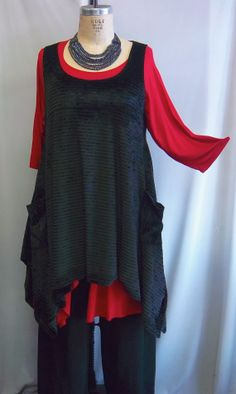 Coco and Juan Plus Size Top Lagenlook Layering by COCOandJUAN, $38.00  Great for Seattle Weather.