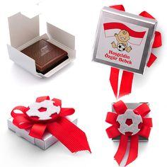 Bebek :: Taraftar Bebek Çikolatası :: Kırmızı Beyaz Taraftar Bebek Çikolatası