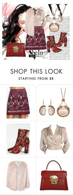 """SheIn 7"" by dinka1-749 ❤ liked on Polyvore featuring Yves Saint Laurent, Sans Souci, Dolce&Gabbana and vintage"