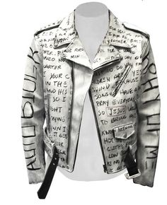 ron bass graffiti leather jacket