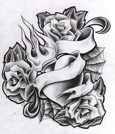 a1eeb4b0d4f1c Three Roses Heart Tattoo Design Heart With Infinity Tattoo, Rose Heart  Tattoo, Sacred Heart