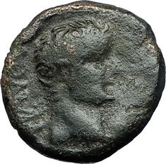 TIBERIUS 14AD Colonists Founding PARIUM with OXEN Ancient Roman Coin i68500