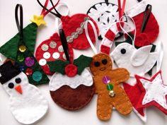 more felt ornaments