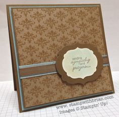 Petite Pairs, Natural Compostion Specialty Designer Series Paper, Sympathy Card, Stampin' Up!, stampwithbrian.com