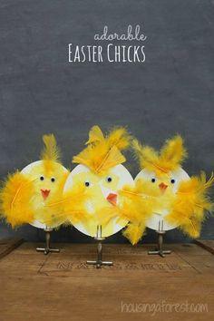 Adorable Spring Chicks ~ simple Easter crafts for kids