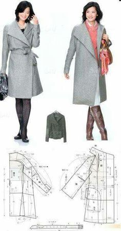 Sewing patterns coat pictures 63 Ideas for 2019 Coat Pattern Sewing, Sewing Coat, Coat Patterns, Dress Sewing Patterns, Jacket Pattern, Sewing Clothes, Clothing Patterns, Diy Clothes, Costura Fashion