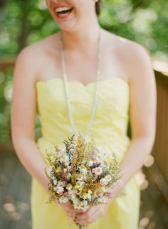 Yellow and gray Lake Keowee Wedding - see more at http://fabyoubliss.com