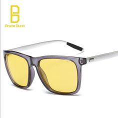 9d7d7b4438 Bruno Dunn Brand Aluminum Drivers Day Night Vision Sunglasses. Glasses Case Mens ...