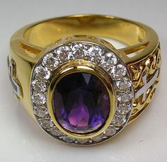 Amethyst Bishop Ring