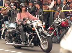 Cher on Motorcycle