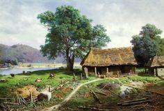 Cuadros Modernos Pinturas : La Vida Campesina Del Siglo XIX En Los Paisajes de Mikhail Clodt, Rusia