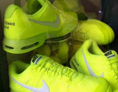 Tennis Ball Yellow Nikes