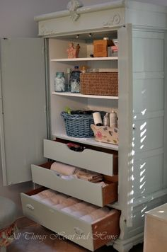 DIY.. How To Turn Armoire into Storage Tutorial !