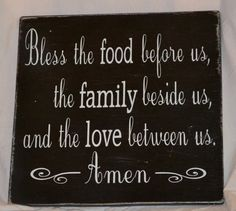 Beautiful Blessing Sign Dining Room Kitchen Hand Painted Wood