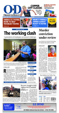 The front page for Sunday, May 4, 2014: The working clash