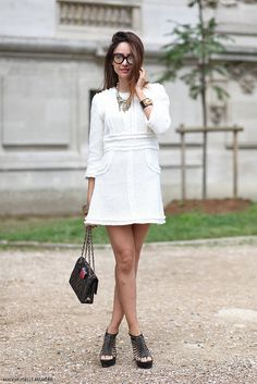 #PatriciaContreras at #Parisfashionweek Haute Couture #PFW #streetstyle. Picture by @MariePaolaBH