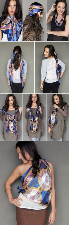 DIY : 15 ways to style a scarf | DIY & Crafts Tutorials