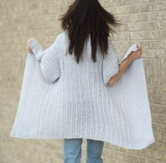 Some of you may have seen that Lion Brand recently created a crochet kit (currently out of stock ETA Dec 1 2017) for this Cascading Kimono Cardigan Crochet Pattern and I'm happy to now share the pattern for free here on the blog as well!  I LOVE how this crocheted kimono turned out.  It's easy, breezy, flowy (is that a word?) and a lot of fun to crochet.  As with most of my projects and patterns, this has a super simple construction but the look is flattering and relaxed.  If you foll...