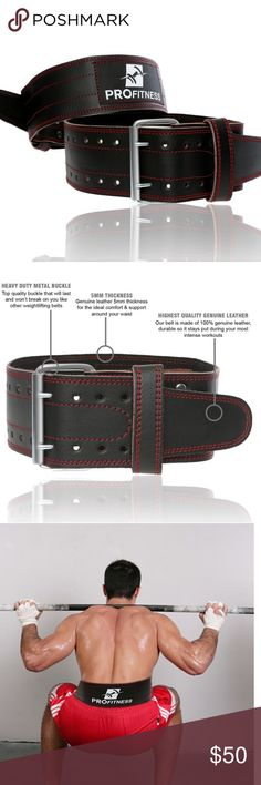 """💪🏼Fitness- Weight Lifting Belt MEDIUM SIZE - Genuine Leather Adjustable, Non-Slip Fit Stretch and Tear Resistant Heavy Duty Metal Buckle Unisex (Men and Women) Enhanced Width: 4"""" Helps prevent back injury and sustain strong abdominal and a thick back. Helps with powerlifting, twisting or supporting heavy weights. Perfect for bodybuilding,  crossfit exercises, powerlifting and daily gym fitness. ✅Great deal!✅ Save with bundle discounts💰 I also offer customized bundles🛍  Interested? Leave…"""