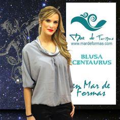 La Blusa Centaurus  Bonita blusa de seda disponible en color plata, ideal para conjuntar con el pantalón Eridanus  http://www.mardeformas.com/es/215-blusa-centaurus.html
