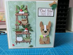 Dog Cards, Kids Cards, Felt Crafts, Paper Crafts, Marianne Design Cards, Spellbinders Cards, Cricut Cards, Animal Cards, Funny Cards