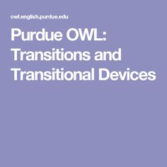 thesis statement owl perdue