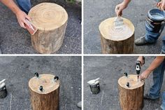 Original tree stump DIY