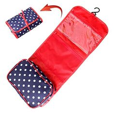 Lady Lucy Hanging Cosmetic and Grooming Travel Organizer Cosmetics Bag, Navy Blue Polka Dot Lady Lucy http://www.amazon.com/dp/B00SIUZMTS/ref=cm_sw_r_pi_dp_bAszwb1PAWS5Y