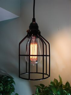 This shop has some really funky lights, u sure won't find anywhere else!! Nate Berkus Show Industrial Style Pendant Light by BenclifDesigns, $49.00