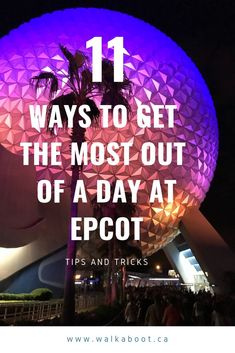 11 ways to maximize your time at Epcot at Walt Disney World. 11 Epcot tips and tricks to get the most out of your time at the park. These Epcot Disney Secrets will make your time at the park just that much better!  If you are visiting Orlando and traveling to Walt Disney World, follow these tops to survive a long day at epcot