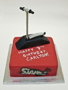 Slamm Scooter birthday cake by thesearejessicakes.deviantart.com on @deviantART