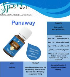 Panaway Essential Oil, Young Living Oils, supports pain relief, all natural, Dilution ratios, natural remedy, sore muscles, muscle relaxer, muscle stiffness, alternative medicine, essential oil dilution